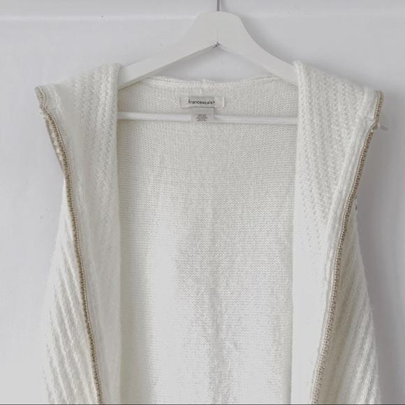 Francesca's - Knit Vest w/Hood